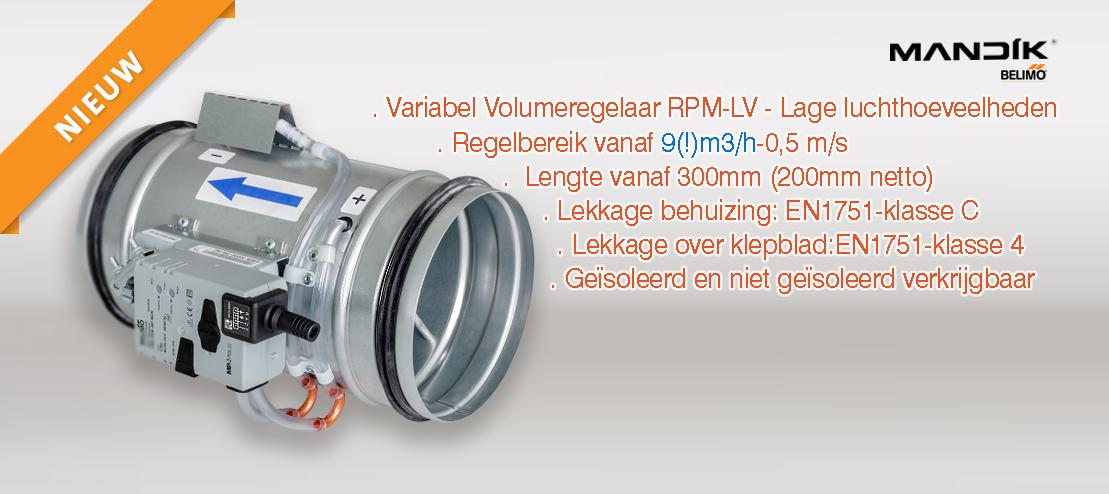Mandik RPM-LV variabel luchtvolumeregelaar voor lage luchtsnelheden